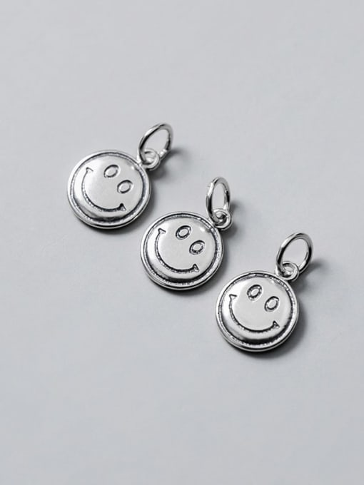 FAN 925 Sterling Silver Face Charm Height : 13 mm , Width: 10.5 mm 2