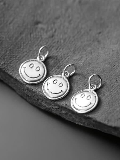 FAN 925 Sterling Silver Face Charm Height : 13 mm , Width: 10.5 mm 1