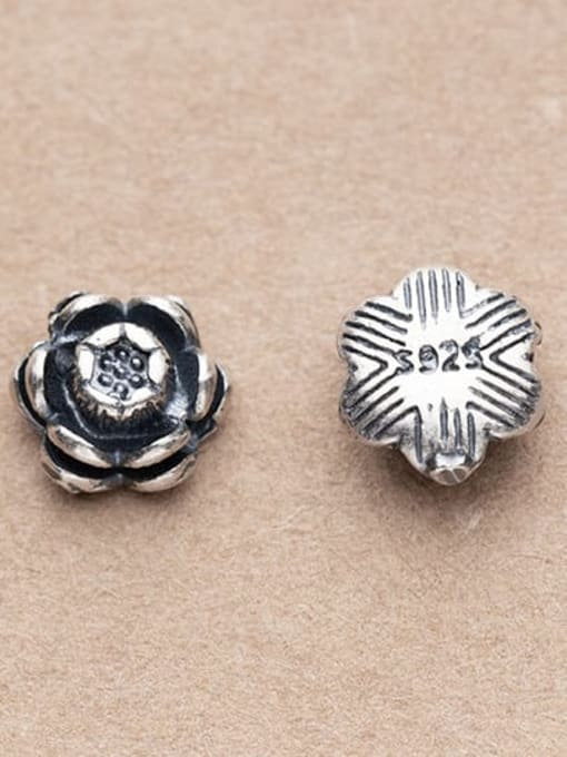 FAN 925 Sterling Silver Flower Charm Height : 8 mm , Width: 8 mm