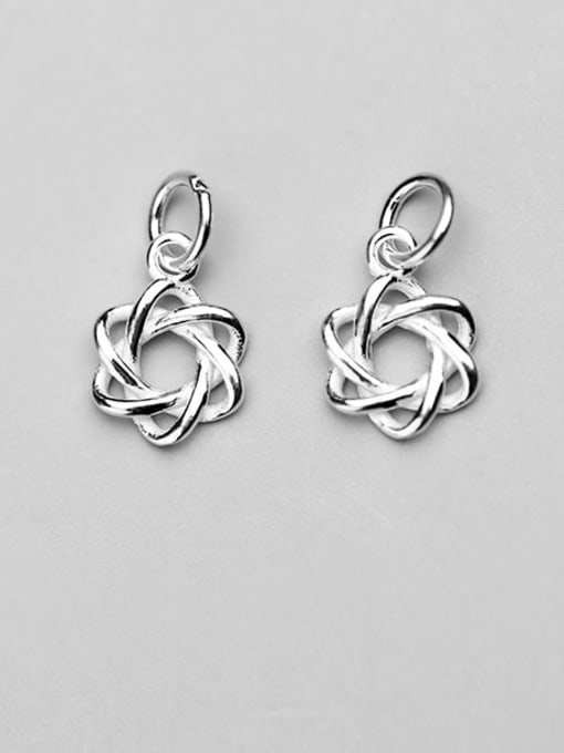 FAN 925 Sterling Silver Geometry Star Charm Height : 13 mm , Width: 9 mm 0