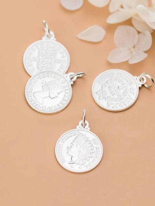 FAN 925 Sterling Silver coin Charm Height : 18 mm , Width: 18 mm 3