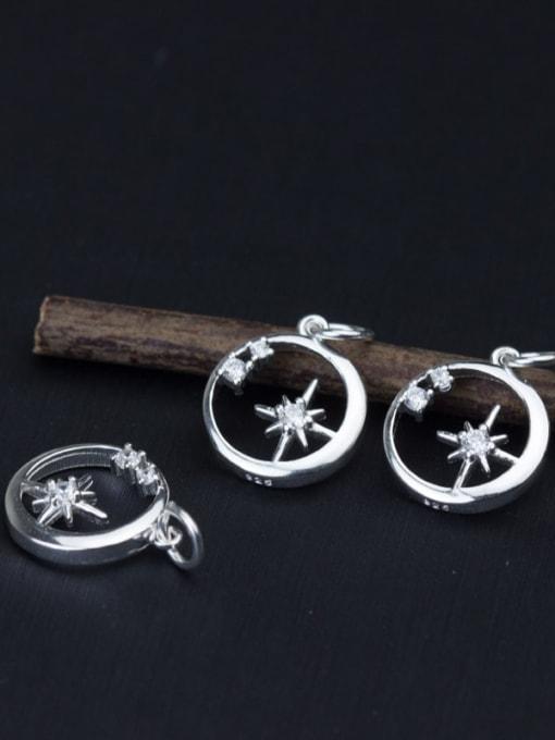 FAN 925 Sterling Silver Round Charm Diameter : 13 mm 1