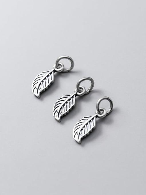FAN 925 Sterling Silver Leaf Charm Height : 13.5 mm , Width: 5.5 mm 2