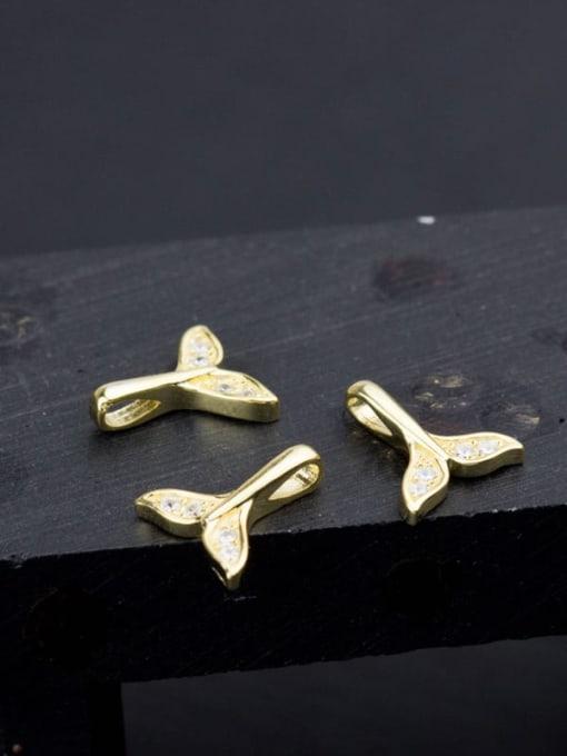 FAN 925 sterling silver dolphin charm 10 * 8.5 mm 2