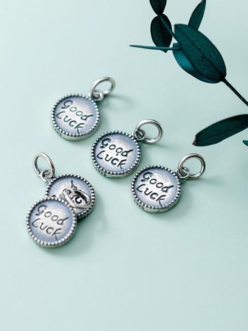 FAN 925 Sterling Silver Message Charm Height : 13.5 mm , Width: 10.5 mm 1