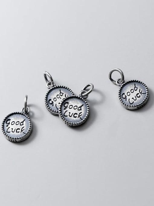 FAN 925 Sterling Silver Message Charm Height : 13.5 mm , Width: 10.5 mm 2