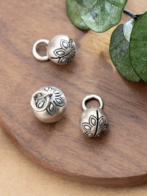 FAN 925 Sterling Silver bell Charm Diameter : 9.5 and11mm 1