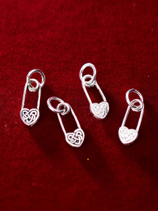 FAN 925 Sterling Silver Heart Charm Height : 14 mm , Width: 6 mm 1