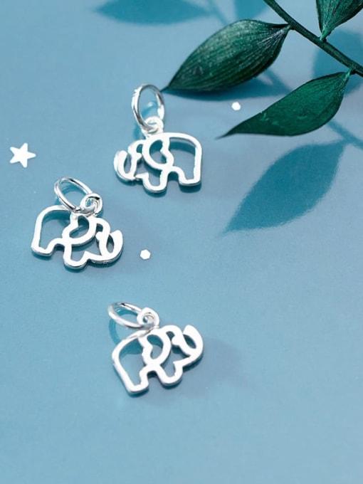 FAN 925 Sterling Silver Elephant Charm Height : 10 mm , Width: 9 mm 2