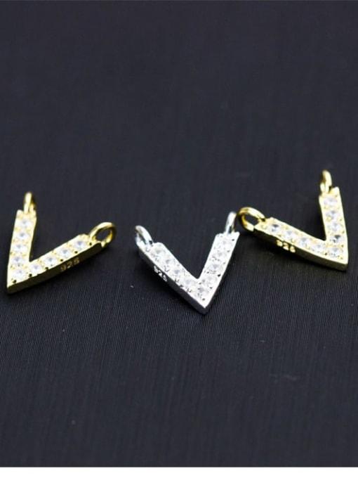 FAN 925 Sterling Silver Letter Charm Height : 11.5 mm , Width: 10 mm 2