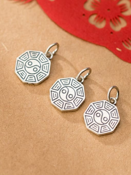 FAN 925 Sterling Silver Charm Height : 15 mm , Width: 12.5 mm , Thickness : 1.6 mm 1