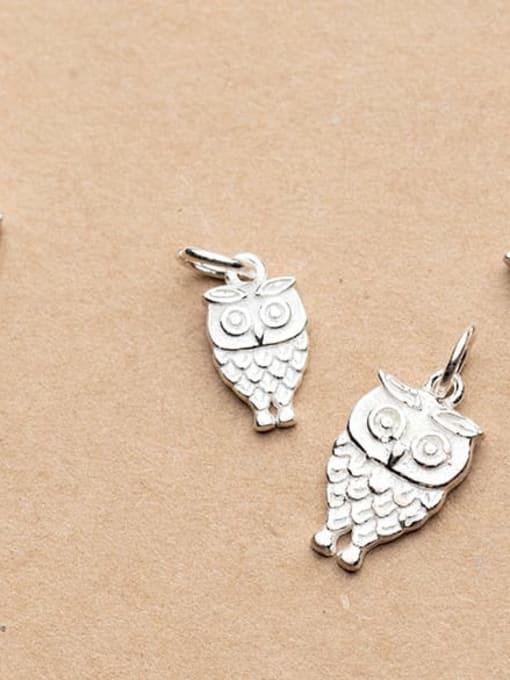 FAN 925 Sterling Silver Owl Charm Height : 16 mm , Width: 9 mm 1