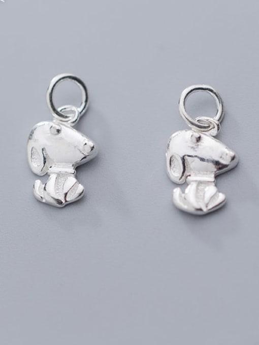 FAN 925 Sterling Silver Dog Charm Height : 13 mm , Width: 9 mm