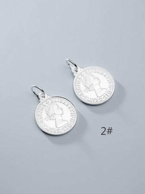 FAN 925 Sterling Silver coin Charm Height : 18 mm , Width: 18 mm 2