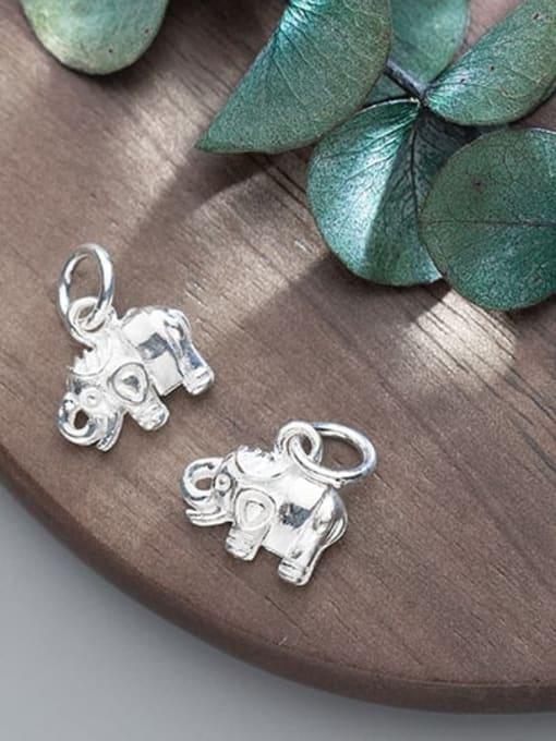 FAN 925 Sterling Silver Elephant Charm Height : 12 mm , Width: 11 mm 2