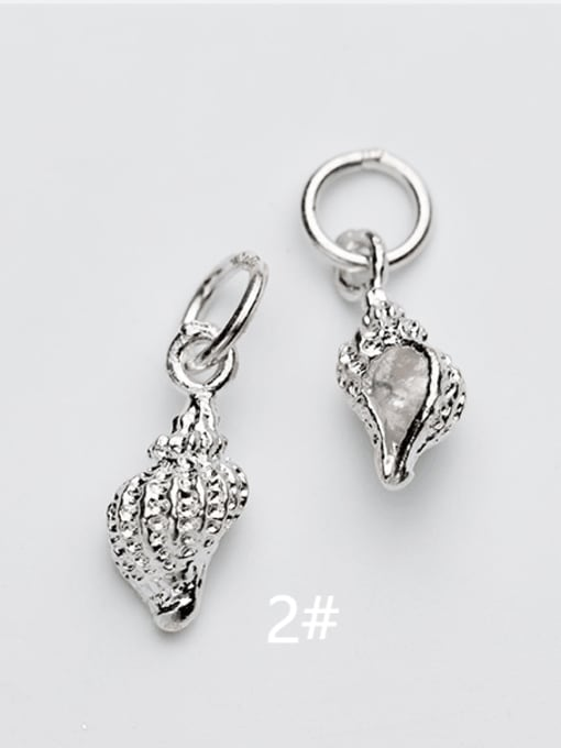 FAN 925 Sterling Silver Ball Conch Charm 2