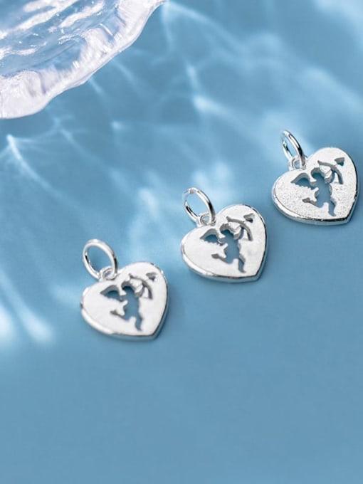 FAN 925 Sterling Silver Anger Heart Charm Height : 13.5 mm , Width: 13 mm 1