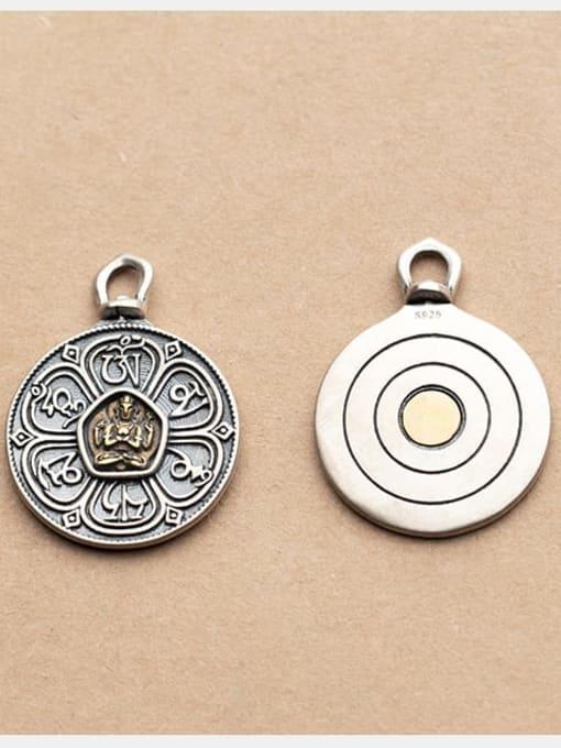 FAN 925 Sterling Silver Round Charm Diameter : 25.5 mm 1