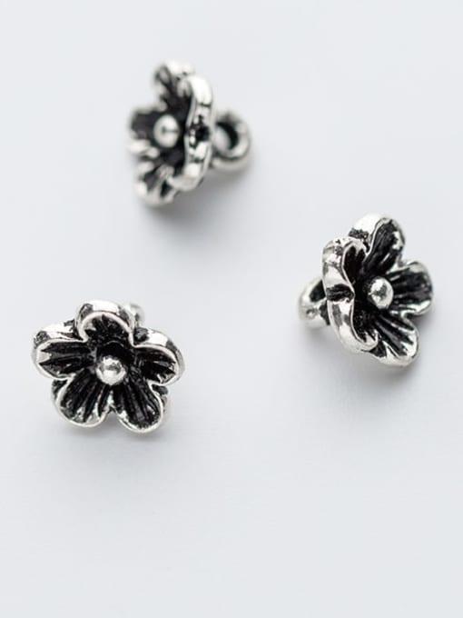 FAN 925 Sterling Silver Flower Charm Height : 9 mm , Width: 9 mm