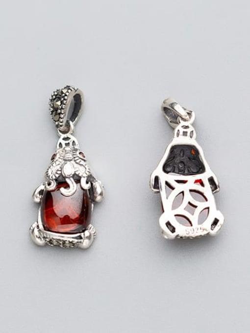 FAN 925 sterling silver ruby Charm 1