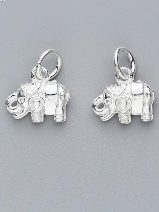 FAN 925 Sterling Silver Elephant Charm Height : 12 mm , Width: 11 mm