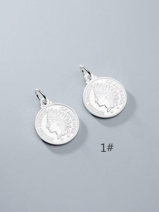 FAN 925 Sterling Silver coin Charm Height : 18 mm , Width: 18 mm 1
