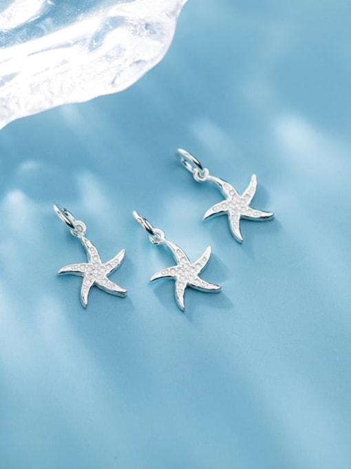 FAN 925 Sterling Silver star Charm Height : 14.5 mm , Width: 11.5 mm 2