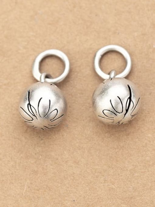 FAN 925 Sterling Silver Ball Charm Diameter : 9 mm 0
