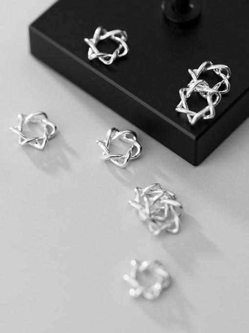 FAN 925 Sterling Silver star Charm Height : 9 mm , Width: 9 mm 1