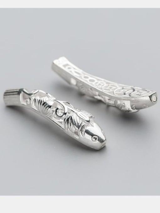 FAN 925 Sterling Silver Fish Charm Height : 43mm , Width: 10 mm 2