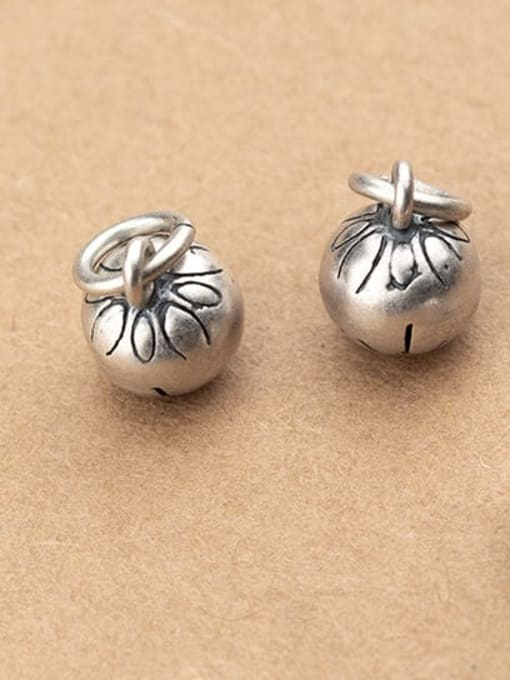 FAN 925 Sterling Silver Ball Charm Diameter : 9 mm 1