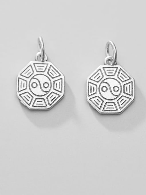 FAN 925 Sterling Silver Charm Height : 15 mm , Width: 12.5 mm , Thickness : 1.6 mm