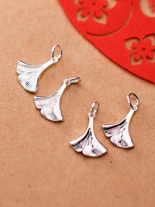 FAN 925 Sterling Silver Leaf Charm Height : 16 mm , Width: 4 mm 2