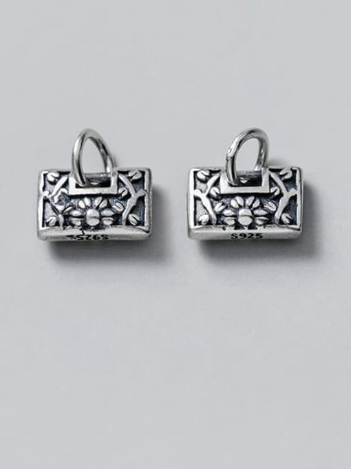 FAN 925 Sterling Silver Locket Charm Height : 6.5 mm , Width: 10 mm
