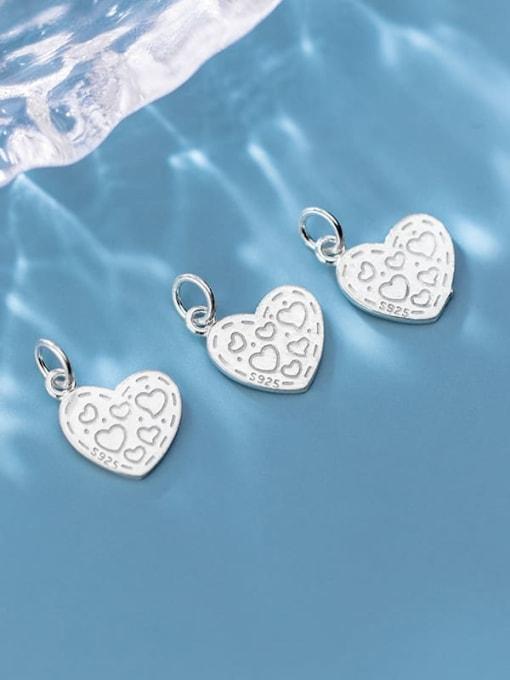 FAN 925 Sterling Silver Heart Charm Height : 14 mm , Width: 12 mm 1