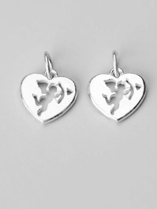FAN 925 Sterling Silver Anger Heart Charm Height : 13.5 mm , Width: 13 mm