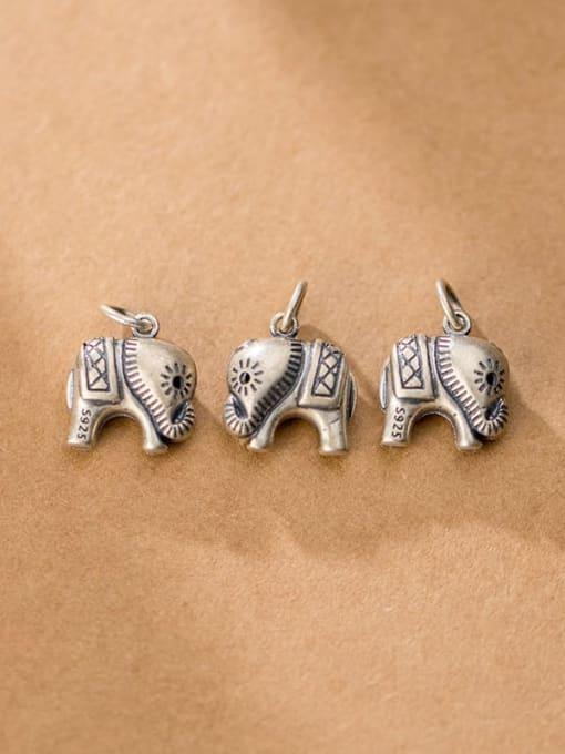 FAN 925 Sterling Silver Elephsnt Charm Height : 14.5 mm , Width: 13.5mm 1
