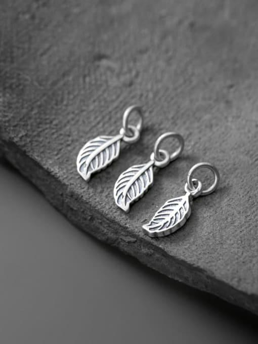 FAN 925 Sterling Silver Leaf Charm Height : 13.5 mm , Width: 5.5 mm 1
