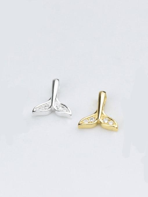 FAN 925 sterling silver dolphin charm 10 * 8.5 mm
