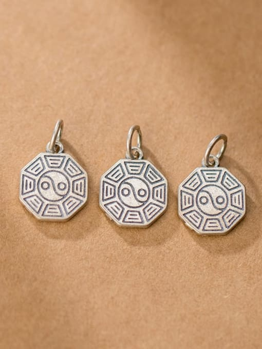 FAN 925 Sterling Silver Charm Height : 15 mm , Width: 12.5 mm , Thickness : 1.6 mm 2