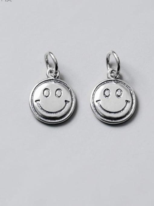 FAN 925 Sterling Silver Face Charm Height : 13 mm , Width: 10.5 mm 0