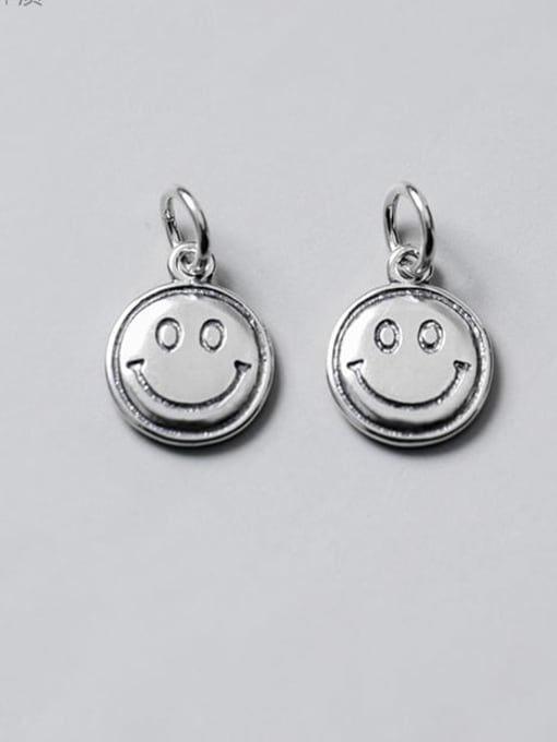 FAN 925 Sterling Silver Face Charm Height : 13 mm , Width: 10.5 mm