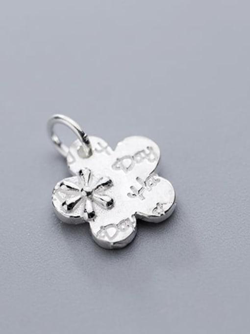 FAN 925 Sterling Silver Flower Charm Height : 13.5 mm , Width: 13.5 mm 1