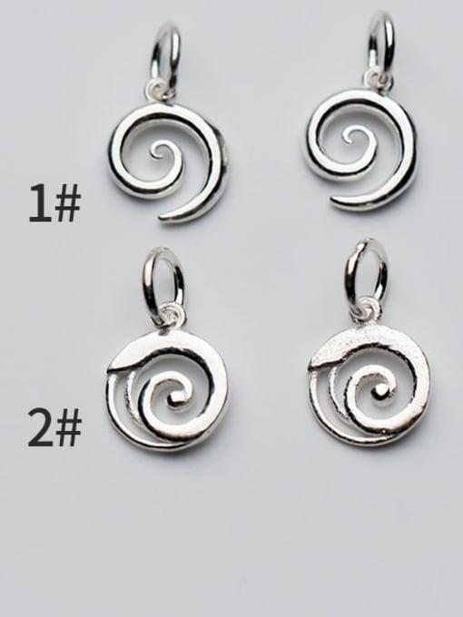 FAN 925 Sterling Silver Charm Height : 11 mm , Width: 9 mm