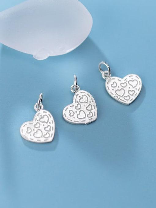 FAN 925 Sterling Silver Heart Charm Height : 14 mm , Width: 12 mm 2