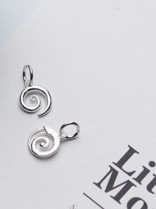 FAN 925 Sterling Silver Charm Height : 11 mm , Width: 9 mm 2