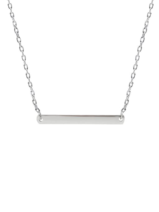 LM custom 925 sterling silver letter minimalist initials bar necklace 2