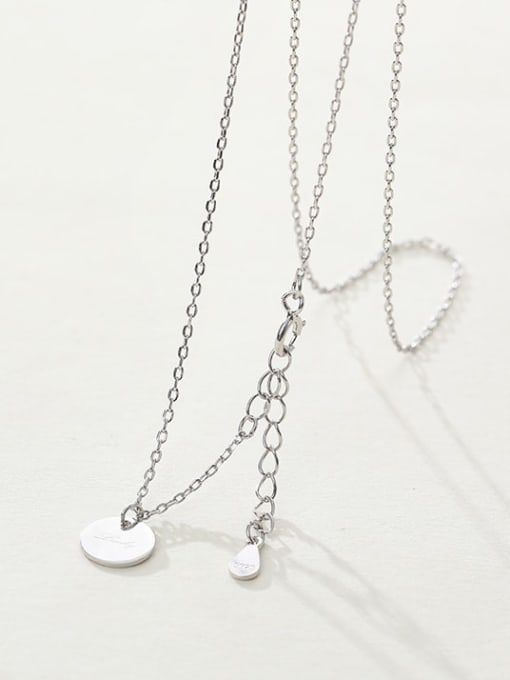 LM custom 925 sterling silver round minimalist initials necklace 2