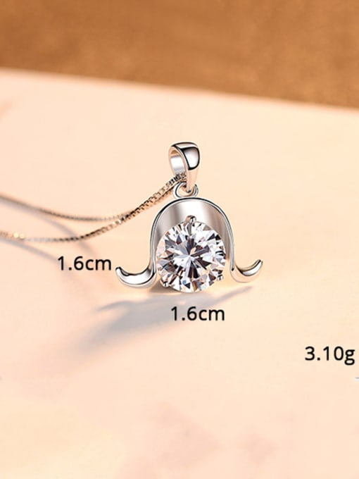 Capricorn 925 Sterling Silver With  Cubic Zirconia Cute 12 constellations Necklaces