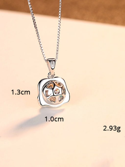 Gemini 925 Sterling Silver With  Cubic Zirconia Cute 12 constellations Necklaces